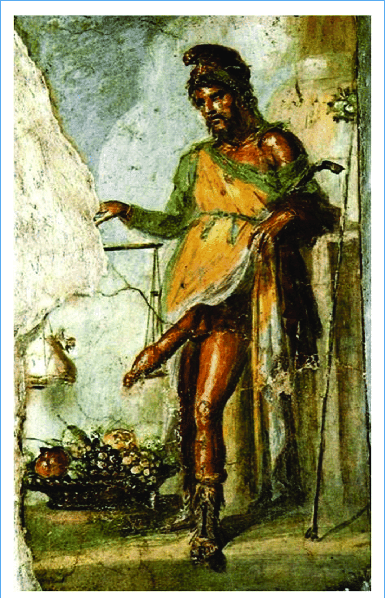 Priapus with an oversized penis